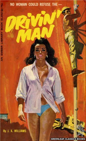 Ember Library EL 352 - Drivin' Man by J.X. Williams, cover art by Robert Bonfils (1966)