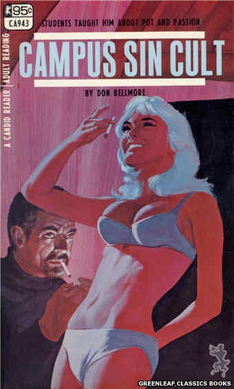 Candid Reader CA943 - Campus Sin Cult by Don Bellmore, cover art by Darrel Millsap (1968)