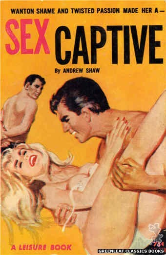 Leisure Books LB628 - Sex Captive by Andrew Shaw, cover art by Robert Bonfils (1964)