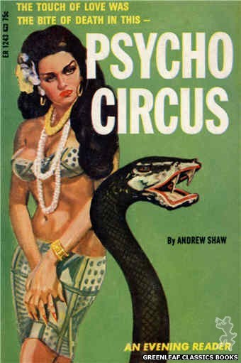 Evening Reader ER1243 - Psycho Circus by Andrew Shaw, cover art by Unknown (1966)