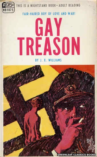 Nightstand Books NB1875 - Gay Treason by J.X. Williams, cover art by Darrel Millsap (1968)