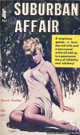Bedside Books BTB 961 - Suburban Affair by David Challon, cover art by Rudi Nappi (1960)