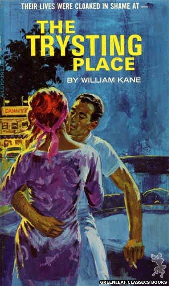 Leisure Books LB1141 - The Trysting Place by William Kane, cover art by Robert Bonfils (1966)