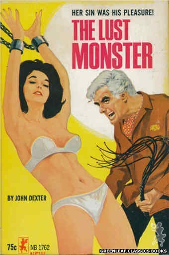 Nightstand Books NB1762 - The Lust Monster by John Dexter, cover art by Darrel Millsap (1965)