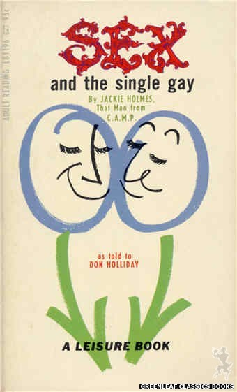 Leisure Books LB1196 - Sex And The Single Gay by Jackie Holmes, cover art by Robert Bonfils (1967)