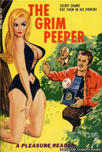 Pleasure Reader PR106 - The Grim Peeper by Curt Colman, cover art by Tomas Cannizarro (1967)
