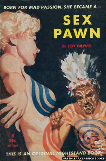 Nightstand Books NB1586 - Sex Pawn by Tony Calvano, cover art by Harold W. McCauley (1961)