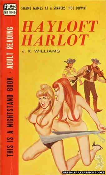 Nightstand Books NB1846 - Hayloft Harlot by J.X. Williams, cover art by Unknown (1967)