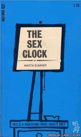 Nightstand Books NB1966 - The Sex Clock by Marta Sumner, cover art by Cut Out Cover (1970)