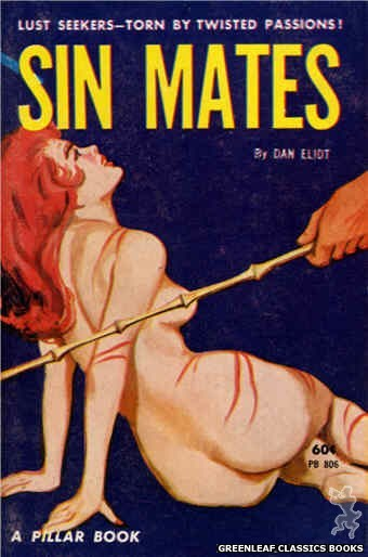 Pillar Books PB806 - Sin Mates by Dan Eliot, cover art by Unknown (1963)