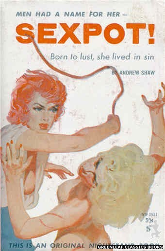 Nightstand Books NB1531 - Sexpot! by Andrew Shaw, cover art by Harold W. McCauley (1960)