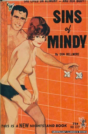 Nightstand Books NB1721 - Sins of Mindy by Don Bellmore, cover art by Unknown (1965)
