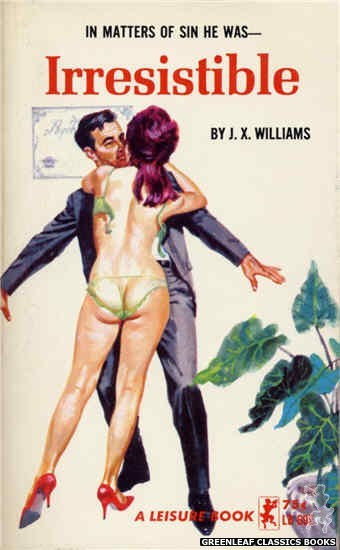 Leisure Books LB695 - Irresistible by J.X. Williams, cover art by Robert Bonfils (1965)