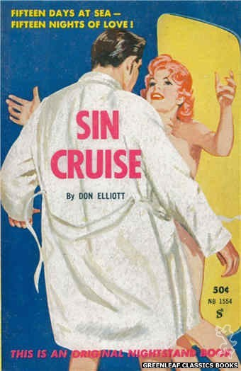 Nightstand Books NB1554 - Sin Cruise by Don Elliott, cover art by Harold W. McCauley (1961)