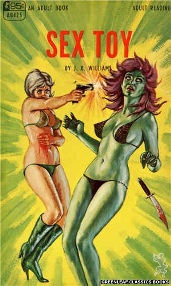 Adult Books AB425 - Sex Toy by J.X. Williams, cover art by Ed Smith (1968)