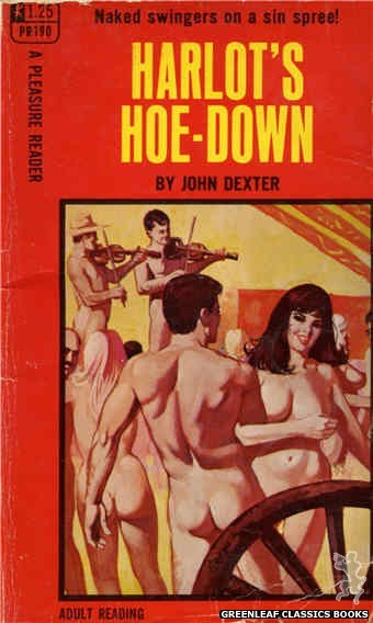 Pleasure Reader PR190 - Harlot's Hoe-Down by John Dexter, cover art by Unknown (1968)