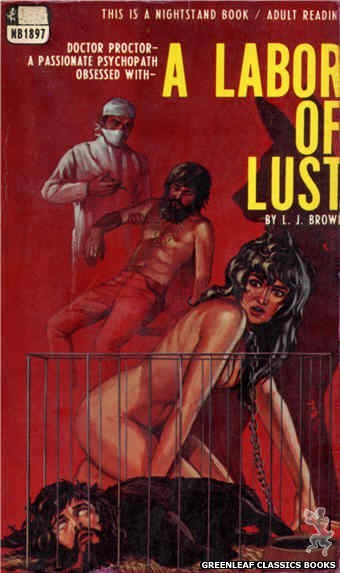 Nightstand Books NB1897 - A Labor of Lust by L.J. Brown, cover art by Ed Smith (1968)