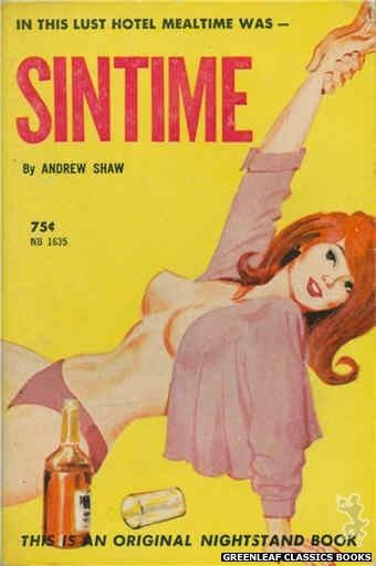 Nightstand Books NB1635 - Sintime by Andrew Shaw, cover art by Unknown (1962)