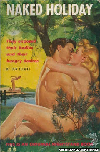 Nightstand Books NB1512 - Naked Holiday by Don Elliott, cover art by Harold W. McCauley (1960)