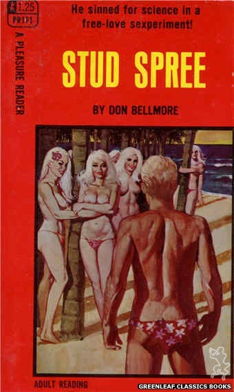 Pleasure Reader PR191 - Stud Spree by Don Bellmore, cover art by Unknown (1968)