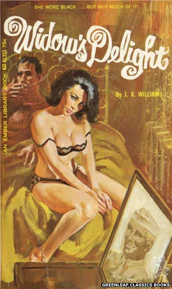 Ember Library EL 353 - Widow's Delight by J.X. Williams, cover art by Robert Bonfils (1966)