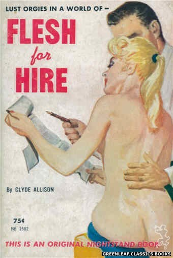 Nightstand Books NB1582 - Flesh For Hire by Clyde Allison, cover art by Harold W. McCauley (1961)
