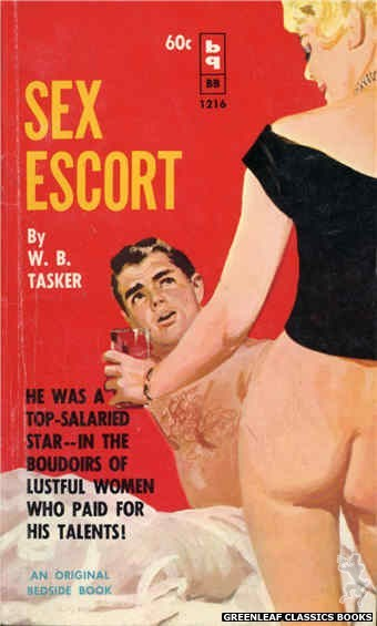 Bedside Books BB 1216 - Sex Escort by W.B. Tasker, cover art by Harold W. McCauley (1962)