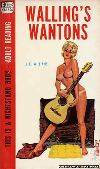 Nightstand Books NB1856 - Walling's Wantons by J.X. Williams, cover art by Tomas Cannizarro (1967)