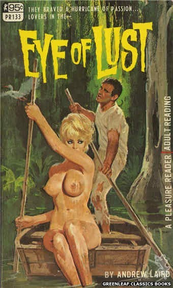 Pleasure Reader PR133 - Eye Of Lust by Andrew Laird, cover art by Robert Bonfils (1967)