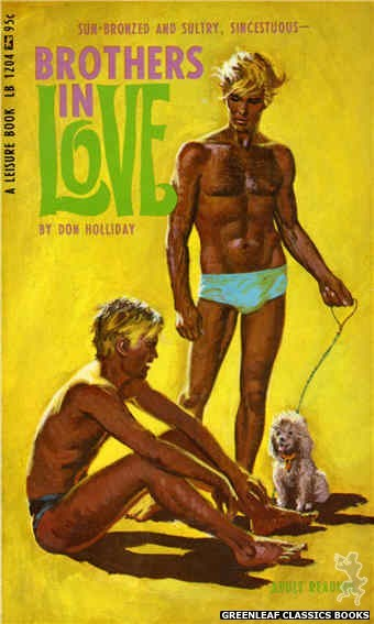 Leisure Books LB1204 - Brothers In Love by Don Holliday, cover art by Robert Bonfils (1967)