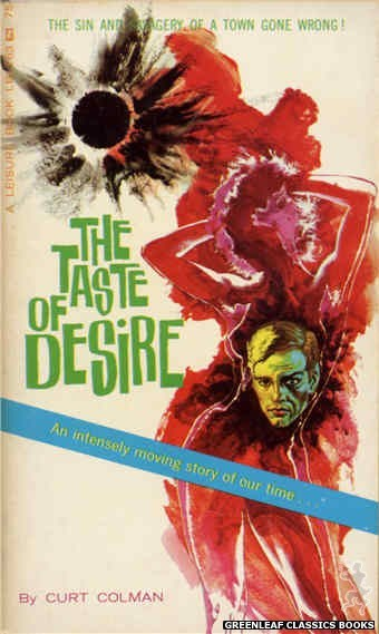 Leisure Books LB1163 - The Taste Of Desire by Curt Colman, cover art by Robert Bonfils (1966)
