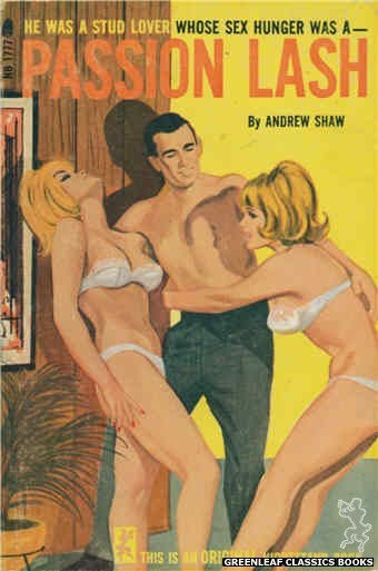 Nightstand Books NB1777 - Passion Lash by Andrew Shaw, cover art by Unknown (1966)