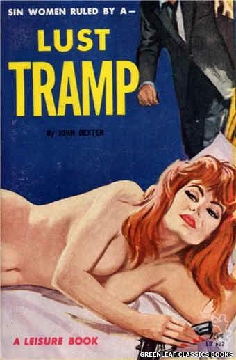 Leisure Books LB622 - Lust Tramp by John Dexter, cover art by Robert Bonfils (1964)