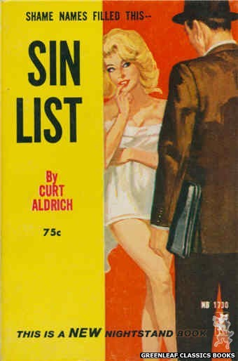 Nightstand Books NB1730 - Sin List by Curt Aldrich, cover art by Unknown (1965)