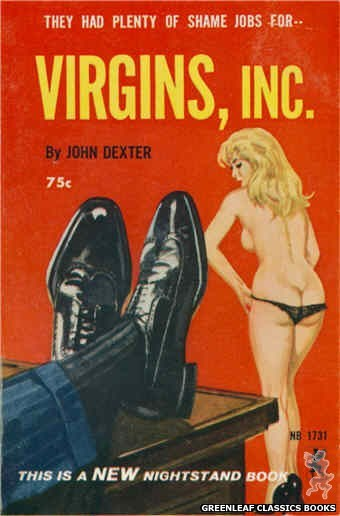 Nightstand Books NB1731 - Virgins, Inc by John Dexter, cover art by Robert Bonfils (1965)