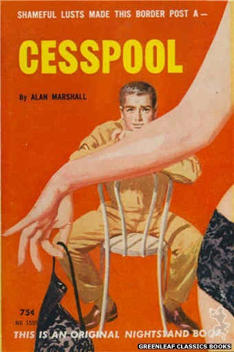 Nightstand Books NB1595 - Cesspool by Alan Marshall, cover art by Harold W. McCauley (1962)
