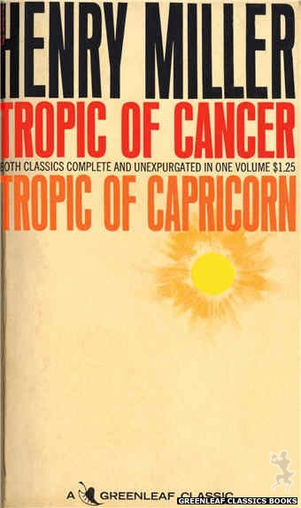 Greenleaf Classics GC210 - Tropic of Cancer by Henry Miller, cover art by Unknown (1966)