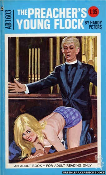 Adult Books AB1603 - The Preacher's Young Flock by Hardy Peters, cover art by Unknown (1971)