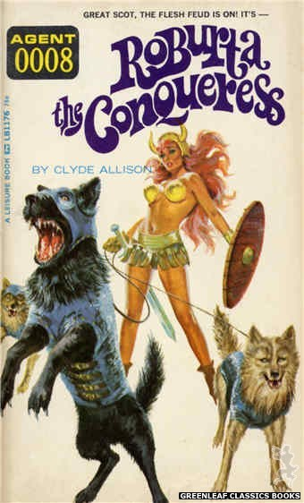 Leisure Books LB1176 - Roburta The Conqueress by Clyde Allison, cover art by Robert Bonfils (1966)