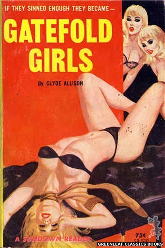 Sundown Reader SR510 - Gatefold Girls by Clyde Allison, cover art by Robert Bonfils (1964)