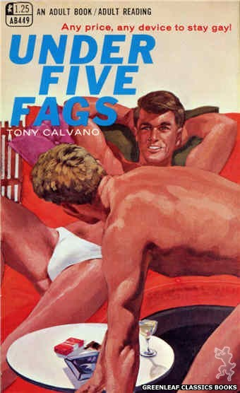 Adult Books AB449 - Under Five Fags by Tony Calvano, cover art by Darrel Millsap (1968)