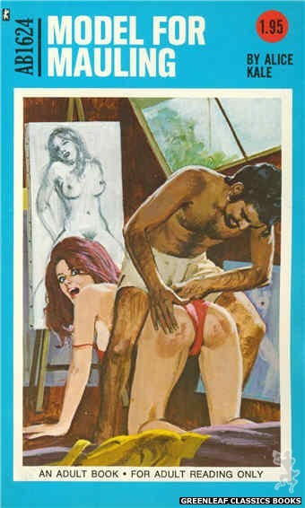 Adult Books AB1624 - Model for Mauling by Alice Kale, cover art by Unknown (1972)