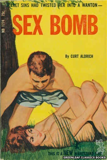 Nightstand Books NB1774 - Sex Bomb by Curt Aldrich, cover art by Unknown (1966)