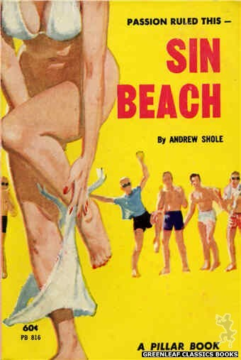 Pillar Books PB816 - Sin Beach by Andrew Shole, cover art by Robert Bonfils (1963)