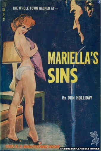 Nightstand Books NB1794 - Mariella's Sins by Don Holliday, cover art by Unknown (1966)