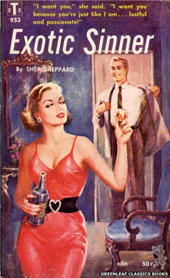 Bedside Books BTB 953 - Exotic Sinner by Shep Sheppard, cover art by Unknown (1959)