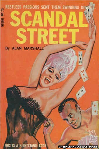 Nightstand Books NB1802 - Scandal Street by Alan Marshall, cover art by Tomas Cannizarro (1966)