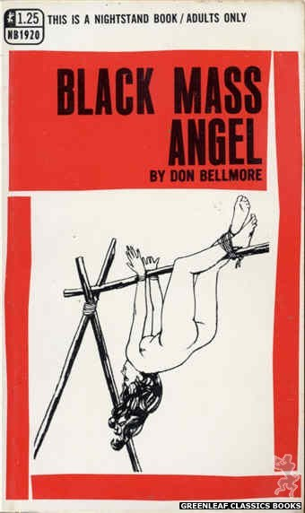 Nightstand Books NB1920 - Black Mass Angel by Don Bellmore, cover art by Harry Bremner (1969)