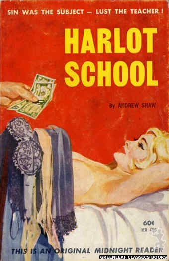 Midnight Reader 1961 MR456 - Harlot School by Andrew Shaw, cover art by Unknown (1962)