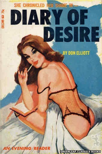 Evening Reader ER1249 - Diary of Desire by Don Elliott, cover art by Unknown (1966)